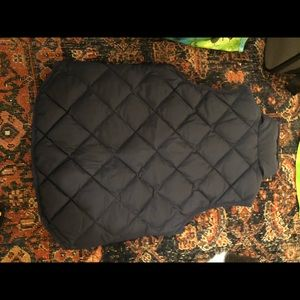 J.crew Navy Blue quilted Vest